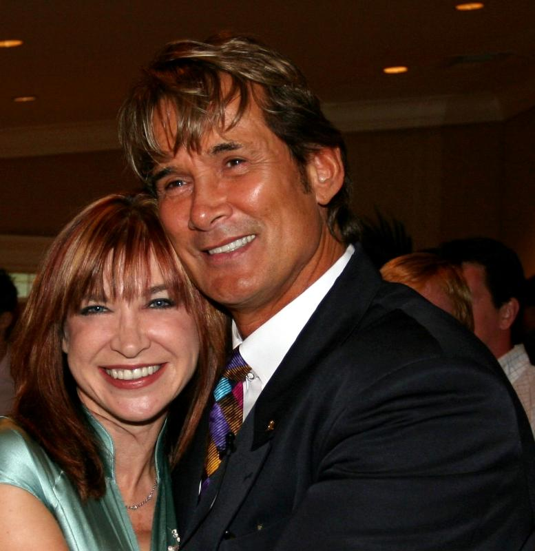 Cynthia with action co-star Richard Norton