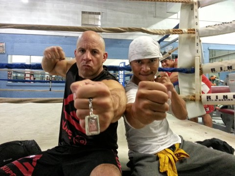 Vin Diesel and Tony Jaa