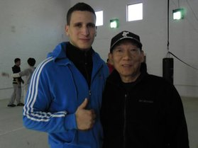 Thumbs up with legendary action director Master Woo-ping