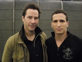 With Keanu Reeves on the set of Man of Tai Chi
