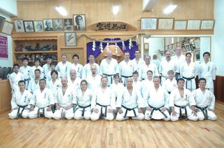 European students visiting dojo in Okinawa