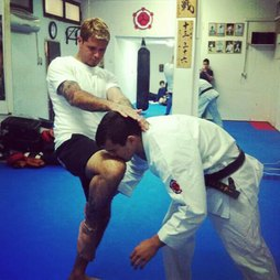 Knee strike...