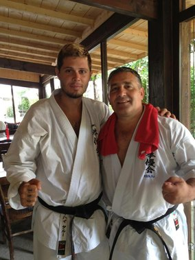 With Angel Arenas, head of Uechi Ryu Kenyukai (Spain)