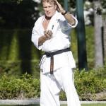 Dolph practicing his katas