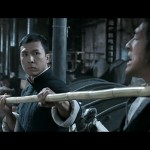 Donnie shows his skills with the bo staff in Ip Man