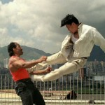 Spectacular flying drop kick by Donnie in In The Line of Duty IV!