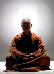 In serene meditation