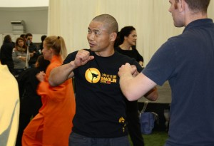 Shifu Yan Lei demonstrating technique