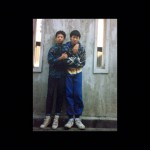 A Yeung David pictured here with Timmy Hung (Sammo Hung's son)