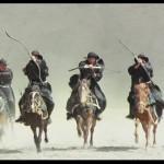 The stunts on horseback are very impressive