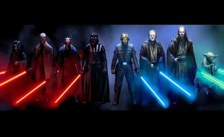 Star Wars Lightsaber duels