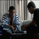 Two Gracies playing chess pre-fight. Chess is commonly seen an analogy of Ju-Jitsu