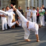 Spinning techniques are a staple of Capoeira