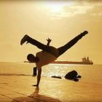 The signature kick of Capoeira, Au batido