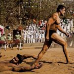 Sultan disposes of his opponent in the sand pit!