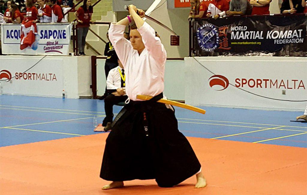 A cutting iaido demonstration