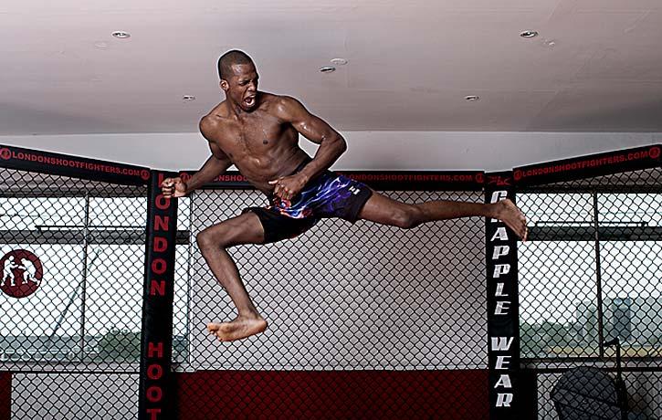High jumping back kick