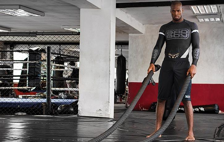 Training the battle ropes