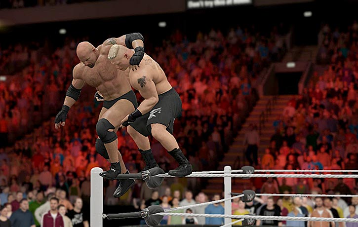 A serious Smackdown of beasts Goldberg and Brock Lesnar!