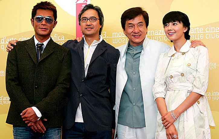 Benny Chan with Louis Koo and Jackie Chan!