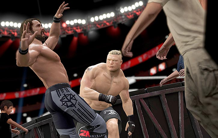 Boom! Lesnar doing what he does best
