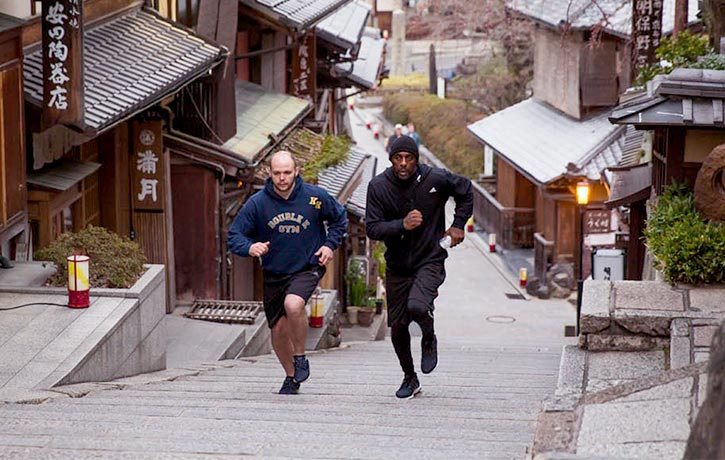 Trainer Kieran Keddle pushes Idris to the limit in in Kyoto, Japan
