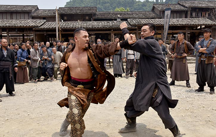 Wong Wai-fu engages Yeung in combat