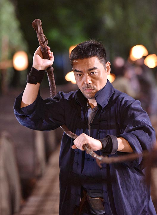 Yeung means business as he wields his whip!