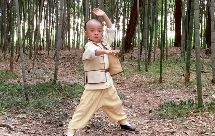 Young actor Li Le-tian as Wong Fei-hung