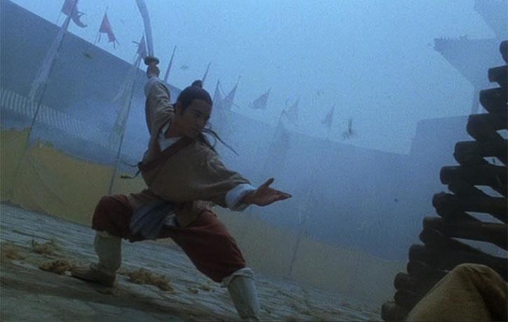 Jet Li strikes a classic pose