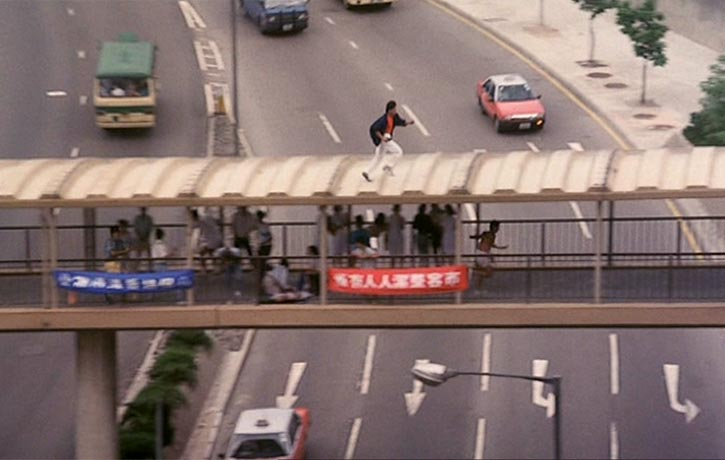 Conan Lee delivers the stunts well