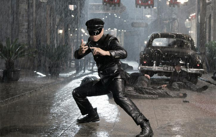 Donnie hits the rain-soaked streets of Shanghai
