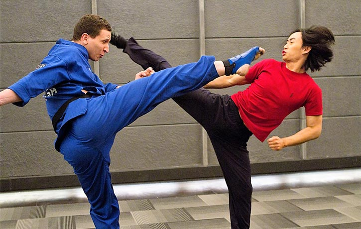 Brahim battles Tiger Chen in Man of Tai Chi