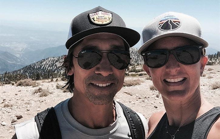 Keith & Justine on a trek adventure