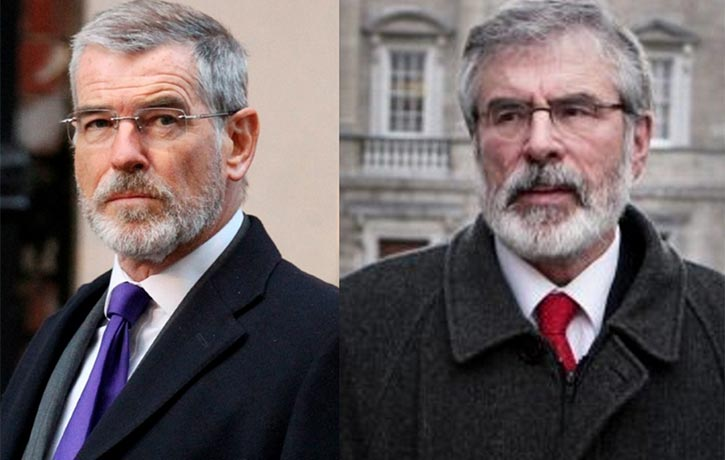 Pierce's character looks remarkably similar to Gerry Adams