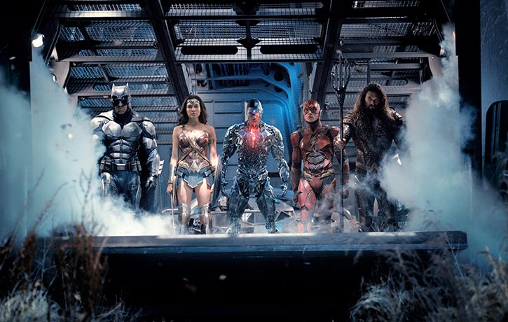 The Justice League greets their newest member