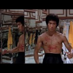 Bruce Lee On red alert...in the room of mirrors..