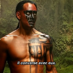 Mark Dacascos Mani speaks with tree spirits Brotherhood of The Wolf