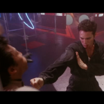 Mark Dacascos Mark delivering his finishing supermove on enemy