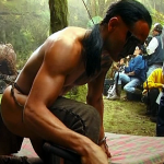 Mark Dacascos Mark on the set Brotherhood of The Wolf