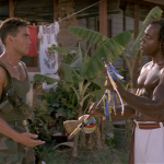 Mark Dacascos Mark playing Louis accepts native musical gift from Mestre Amen Santo his real life capoeira teacher. Only The Strong