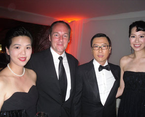 E and B with Donnie and Cici at Wu-Xia party (photo taken by Jimmy Wang-Yu!)