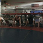 The American team in training..