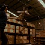 Zens flying back kick levels a baddie