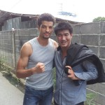Jawed with Muay Thai legend Somrak Khamsing