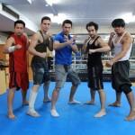 Tim Man with Ninja II stunt team and Scott Adkins