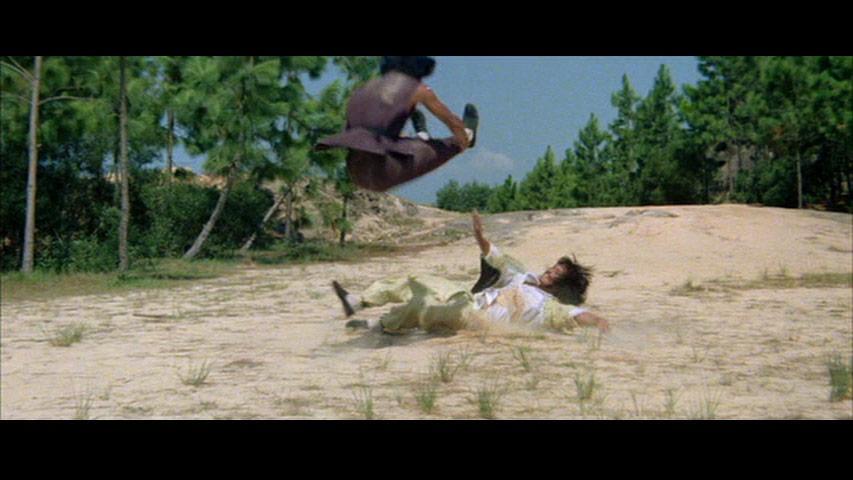 Air Jackie flying leg drop