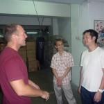 At the CSW kwoon with Mak Chi kong and Wing Chun master John Wong