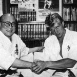 Dolph with 10th Dan and founder of Kyukoshinkai Karate Master Oyama
