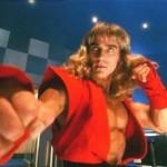 Gary playing Streetfighter Ken kicking like a hurricane